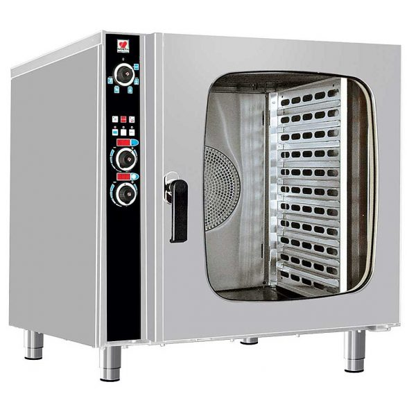 FCN100 Ηλεκτρικός Φούρνος Αέρος, Ατμού