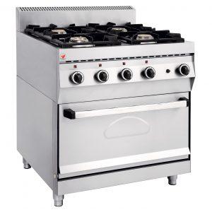 ELGAS Κουζίνα Υγραερίου με Φούρνο Ηλεκτρικό