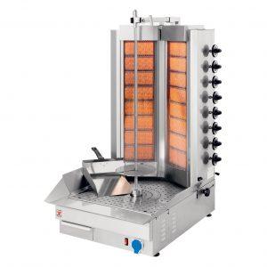 MK110 Γύρος Υγραερίου με Διπλούς Καυστήρες